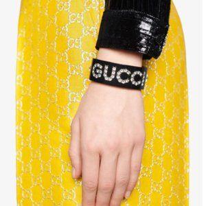 Gucci Crystal Detailed Cuff Bracelet